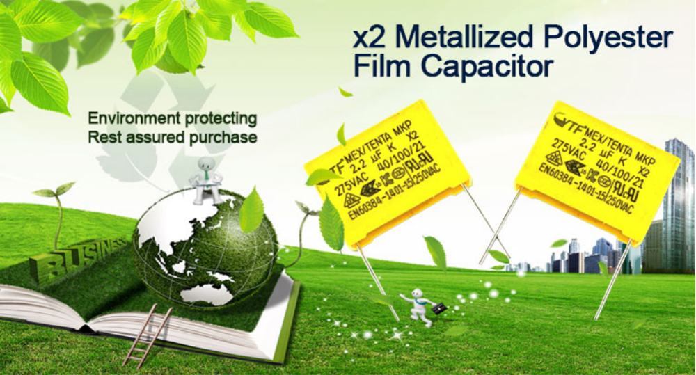 Widely Used From Guangzhou YTF Brand P15mm X2 Capacitor Mkp 0.22uf 275vac