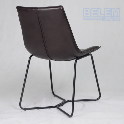 Manufacturer Wholesale Chinese Leather Dining Chair Modern BL6010 Brown