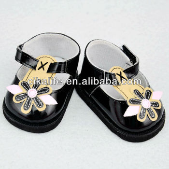 18 inch Black fashion doll high heel shoes american doll shoes