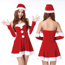 Wholesale cheap full men cosplay christmas santa claus costume