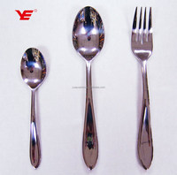 Deluxe stainless steel Mirror polish / different kinds of flatware / tableware for restaurants and parties