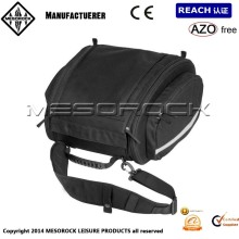 Heavy Duty Strap Mounted Expandable Motorcycle Tail Trunk Bag - Black