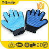 Silicone Five Finger Pet Grooming Glove dog cat deshedding rubber brush