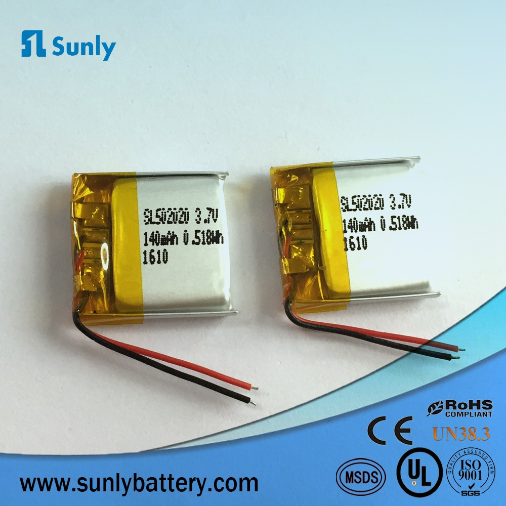 502248 rechargeable 3.7v 500mah li-ion polymer battery mini battery operated fan for kids