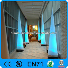 floor cone event colorful inflatabl led light decoration