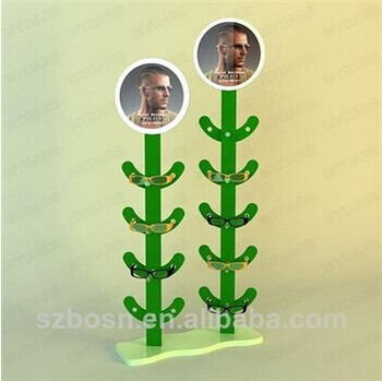 Green tree shape modern design acrylic glass box display with glass box display for sale