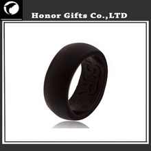 Cheap Food Grade Custom Wholesale Black Silicone Finger Ring