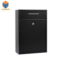 Simple Design Decorative Stainless Steel Black American Mailbox