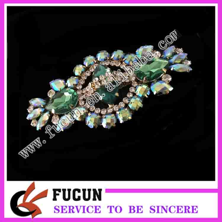 Colorful style resin diamonds brooch For Wedding Decoration accessories