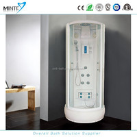 white or red color compact glass shower cabin