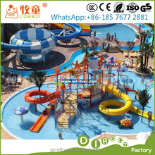 kids playground fiberglass water park slides for sale
