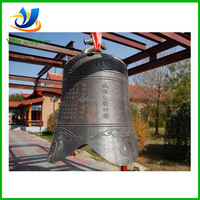 Large outdoor bronze buddhist bell