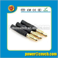 electronic split dc jack 3.5/2.5 mold connector with cable relief /strain relief M12 M11 M2