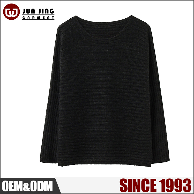 OEM top selling products 2/24 20%Dehair Angora 10%Cashmere 45&Nylon 25%Viscose long sleeve pullover winter women thick sweater