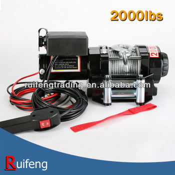 12V, 24V 2000lbs Electric ATV Winch