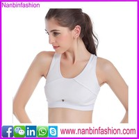 White hottest yoga sports seamless tube bra nude for ladies