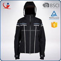 Winter outdoor waterproof best cheap ski jacket black classic coat