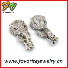 sterling silver pave diamond hand carved feather bone earrings fashion jewelry wholesale