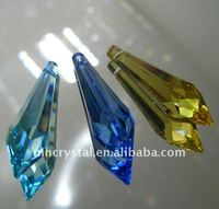 Slim Icicle Prisms in 3 Colors for crystal chandelier pendant drops MH-12151