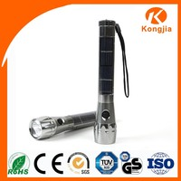 Best Led Flashlight Solar Rechargeable Aluminum Alloy Solar Energy Strong Light