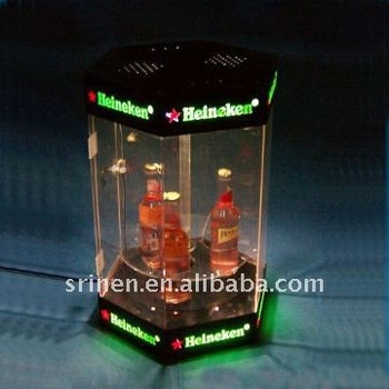 acrylic beer display case PMMA beer box
