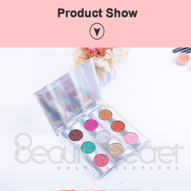 Wholesale Factory price excellent quality 9 Color makeup cosmetic make your own eyeshadow palette