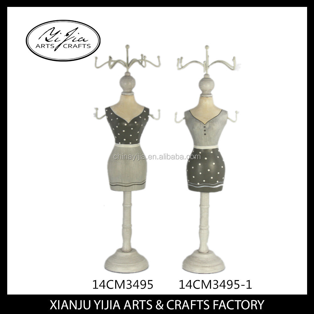 2016 popular doll jewelry display mannequin holder
