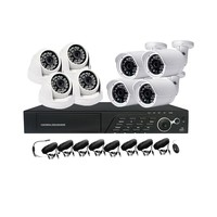 Smart security 960P 1.3MP AHD KIT cctv camera recording system kit with P2P