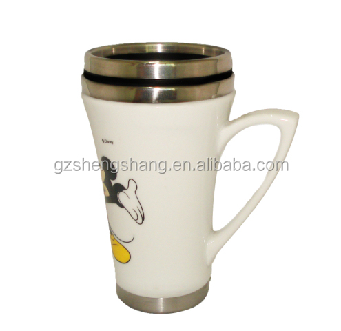 Ceramic Mug with Stainless Steel inside - 14oz