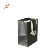 High quality custom design paper black cardboard gift bag paper shopping with handle