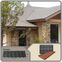 Well designed classic stone coated roofing sheets with low price / stone coated roof tile / stone coated step tile roofing sheet
