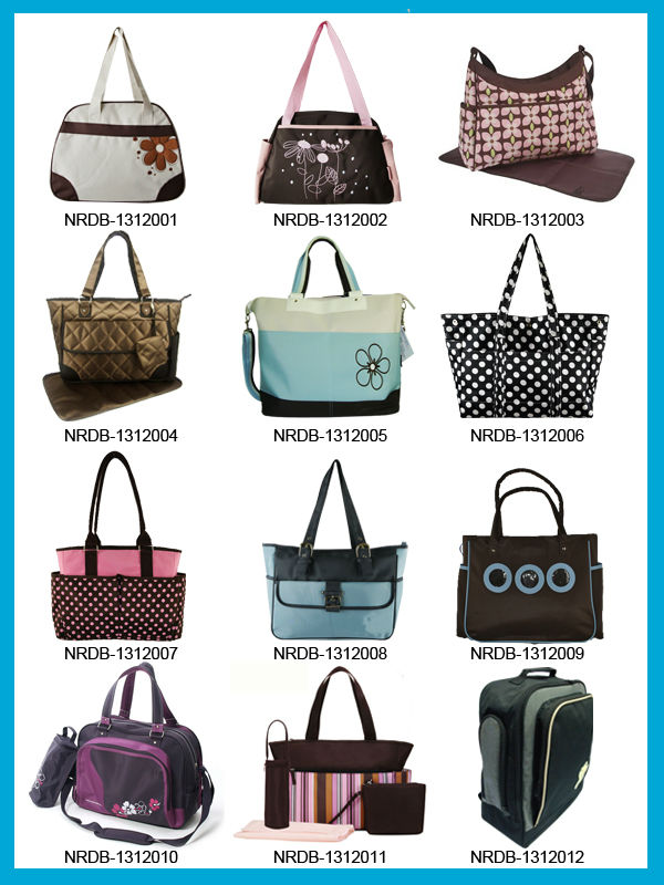 promotional Mommy bag , Diaper bag baby, Mummy Bag with changing mate