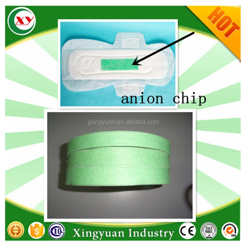 Distributor wanted China Anion chip strips for sanitary napkin manufacturer !!!!
