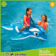 "Fun 60"" X 45"" Inflatable Float Whale / dolphin Ride-On Pool Float beach games toys For Children"