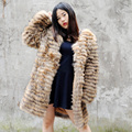 CX-G-A-180D Natural Color 2017 New Ladies Raccoon Fur Jacket