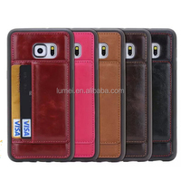 Hot Selling Genuine Stand Soft PU Leather Back Case For Samsung Galaxy S6 Edge Plus