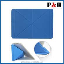 2014 new PU Leather Multi-Folding Folio Wallet Case for IPAD AIR 2 /IPAD 6