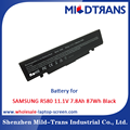 Top Rechargeable Laptop Battery Supplier for SAMSUNG R580 11.1V 7.8Ah 87Wh Black