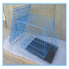 Black Painted Metal foldable Dog cage/Dog Kennel/Pet House