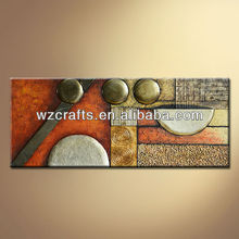 3D relief oil painting of iron craft bronze decoration
