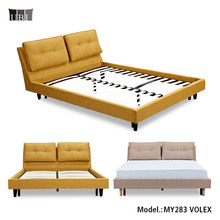 Stylish Furniture Bed Modern Home Luxury King Size Fabric Upholstered Soft Bed For Sales