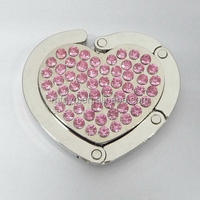 45MM diamond heart customize bag hanger with logo