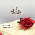 fashion party supplies newest design crystal diamond cake topper wholesale