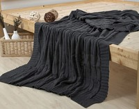 100%cotton knitted throw blanket cotton knitted blanket