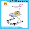 2017 METAL BASE BABY WALKER WITH PUSHBAR AND CANOPY BABY WALKER NEW MODEL WALKER FOR BABY