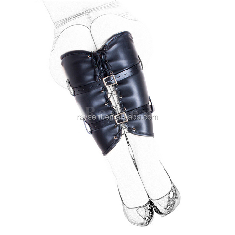 2017 newest Soft PU Leather Calf Cuffs , Calf/Leg Binder Bondage Restraint Sex Toys , Sex Products For Women Costumes