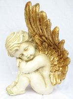 gold angel statue