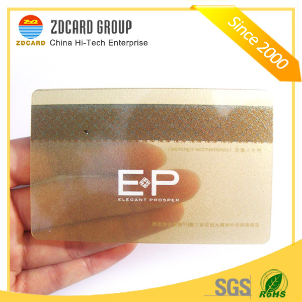 Beautiful looking creative matte finish frosted transparent pvc card