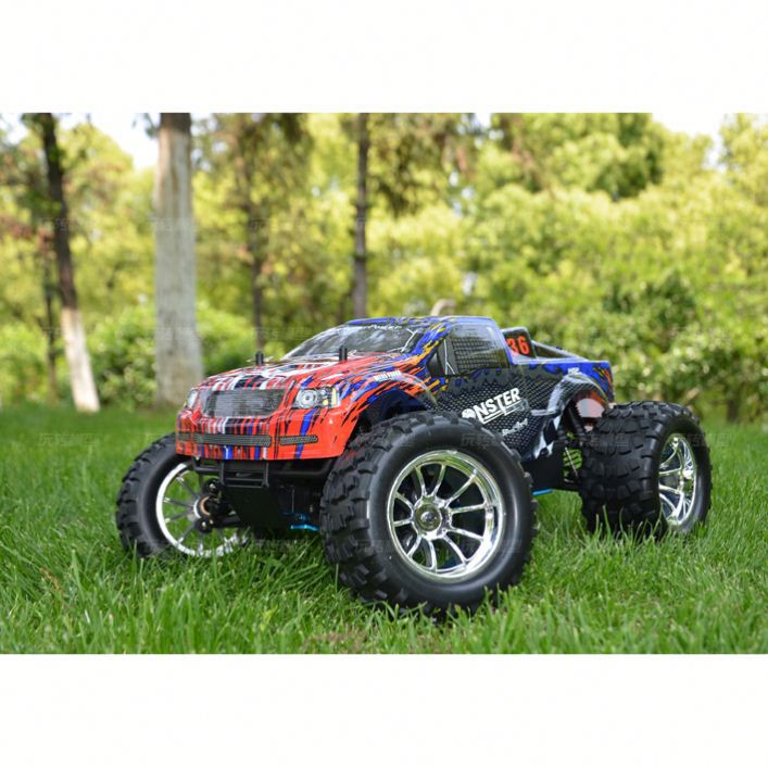 2.4G 4WD 1:10 larger sacle Gasoline Power RTR Monster Truck nitro rc car HSP hobby