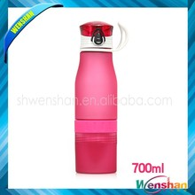 fruit infustion bottle , BPA freee squeeze botteswith different colors and capacity